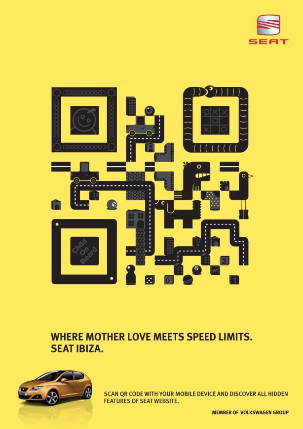 nouveau QR code flashcode publicité seat
